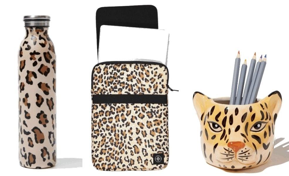 leopard print water bottle leopard print laptop case leopard print mug
