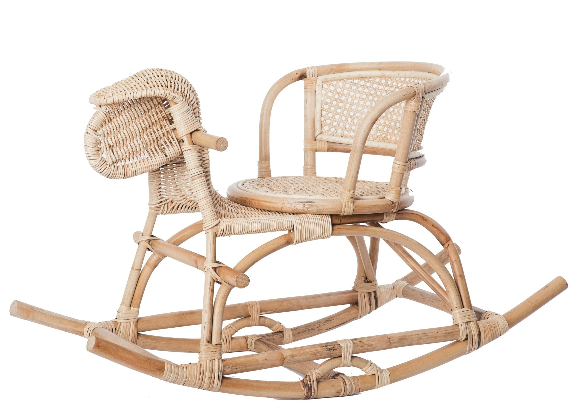 rattan rocking horse bohemian kids furniture raja homewares