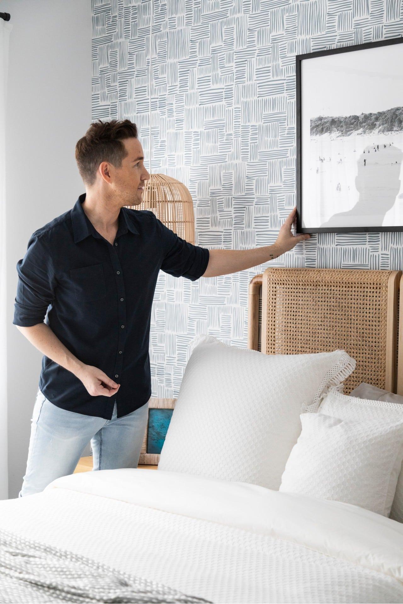 chris carroll tlc interior designers melbourne bedroom styling