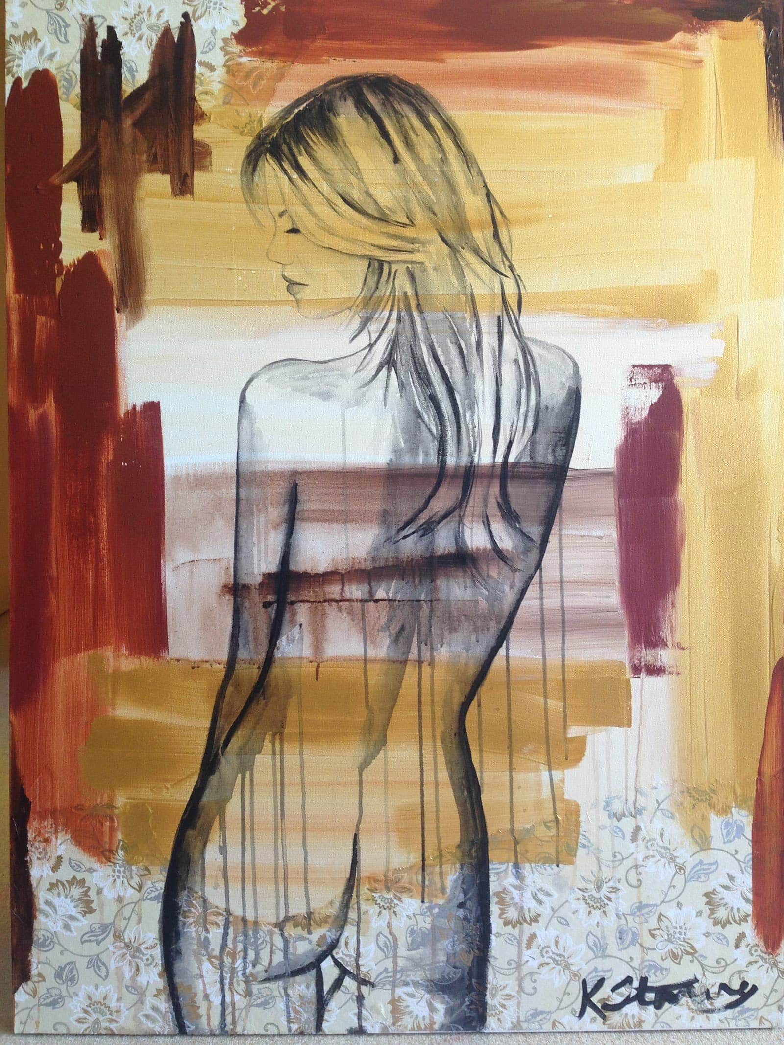naked female artwork from behind by kristie stenning