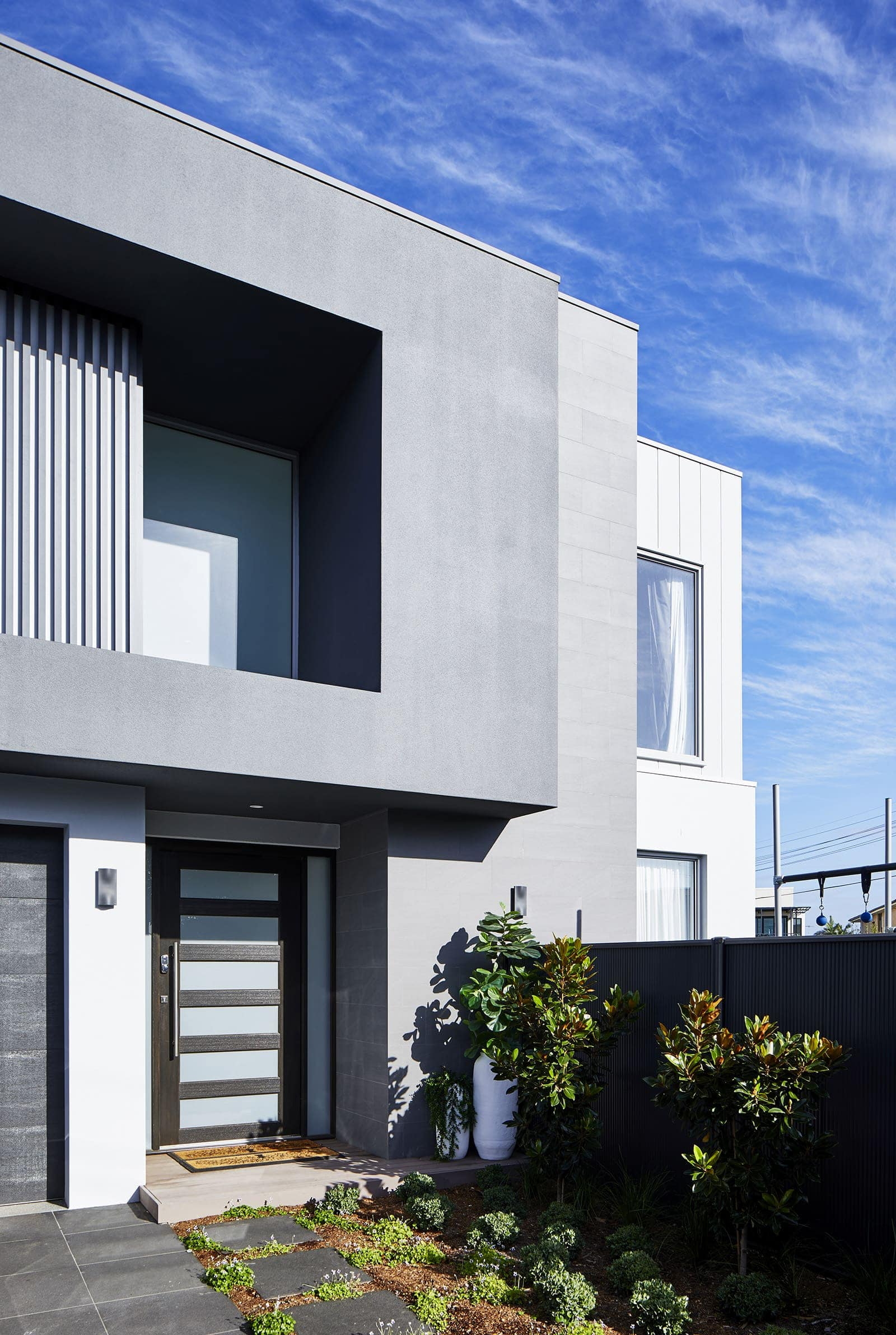 pete evans family home exterior facade by metricon