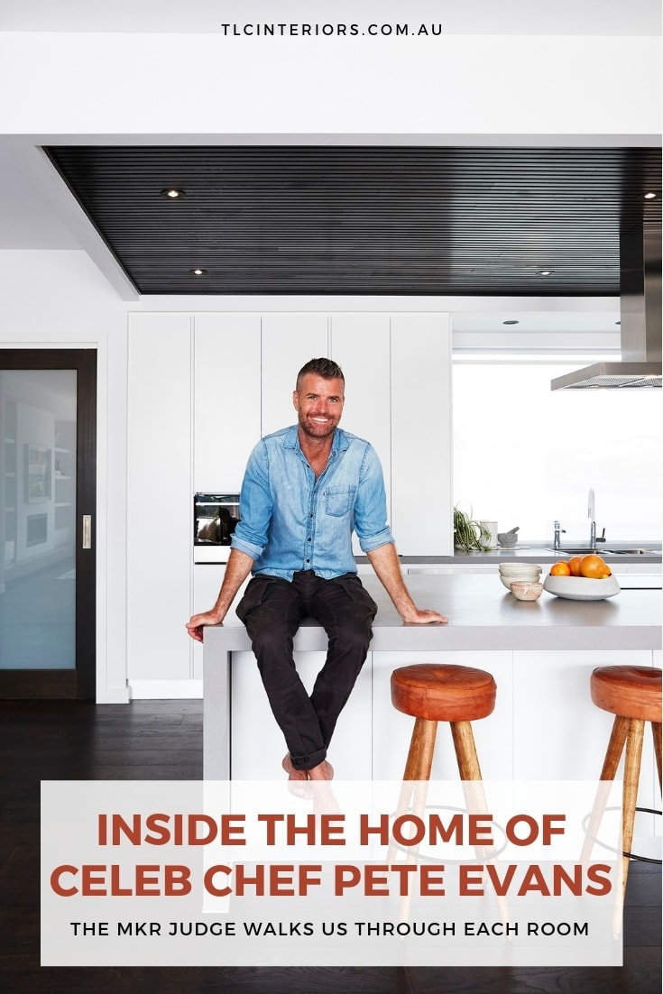 pete evans family home in south east nsw kitchen with conrete benchtop