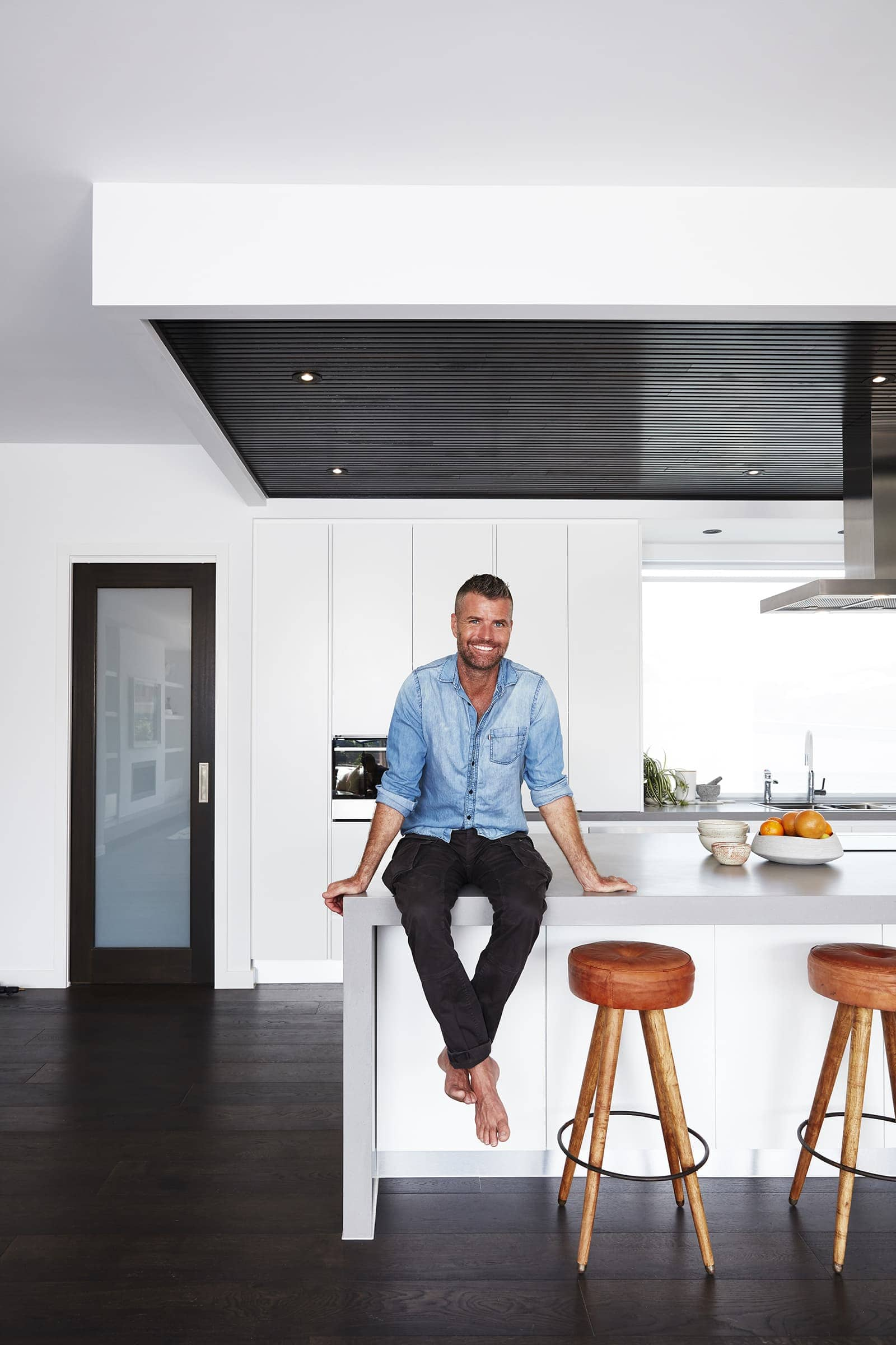pete evans family home kitchen by metricon