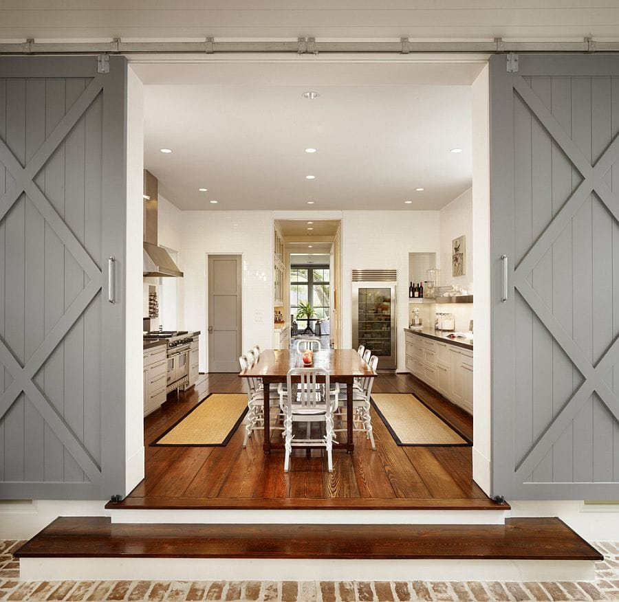 twin sliding barn doors interior design