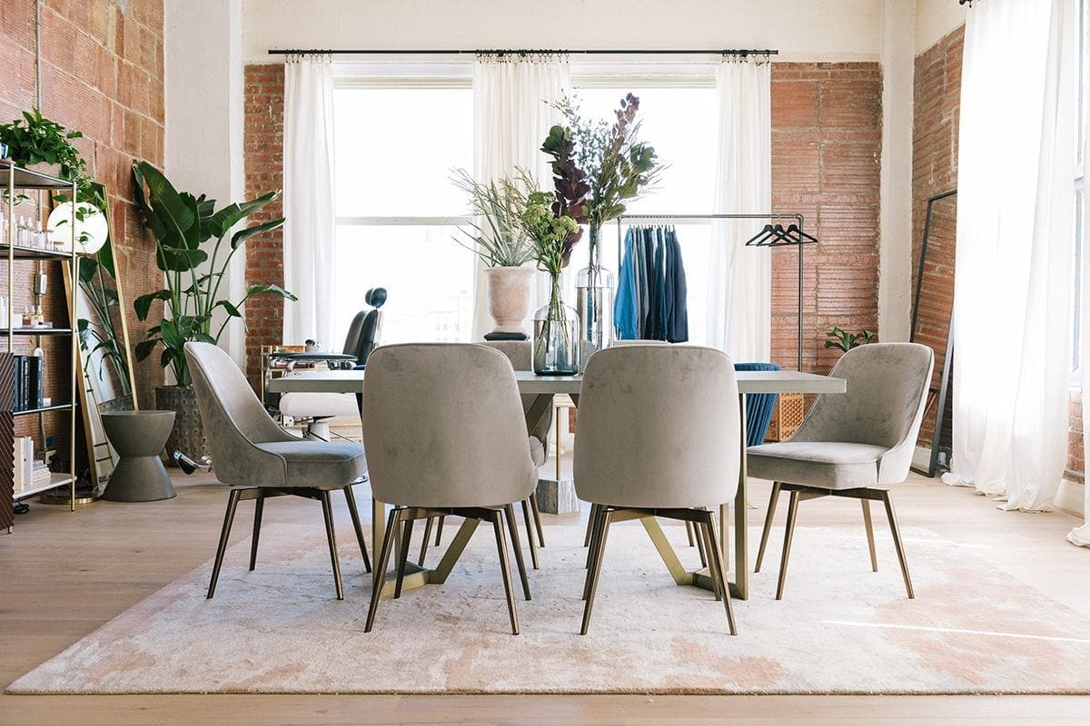 inside the queer eye apartment warehouse dining room furniture west elm