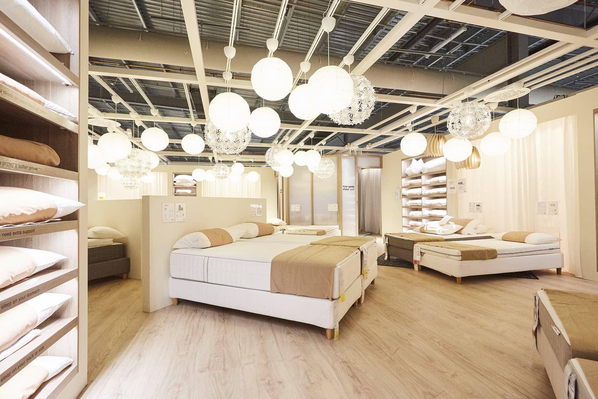 ikea-sleep-studio-ikea-springvale-ikea-mattresses-on-showroom-floor