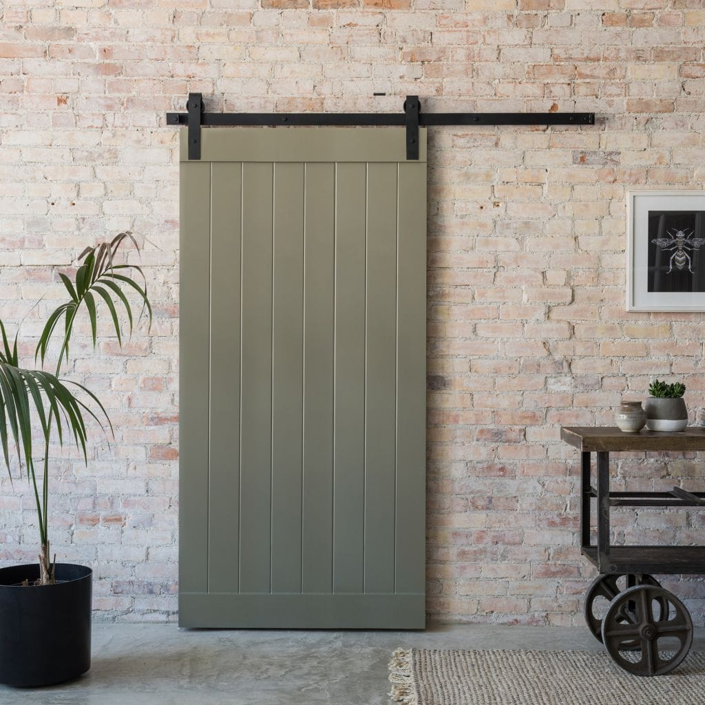 hume doors internal barn door in green
