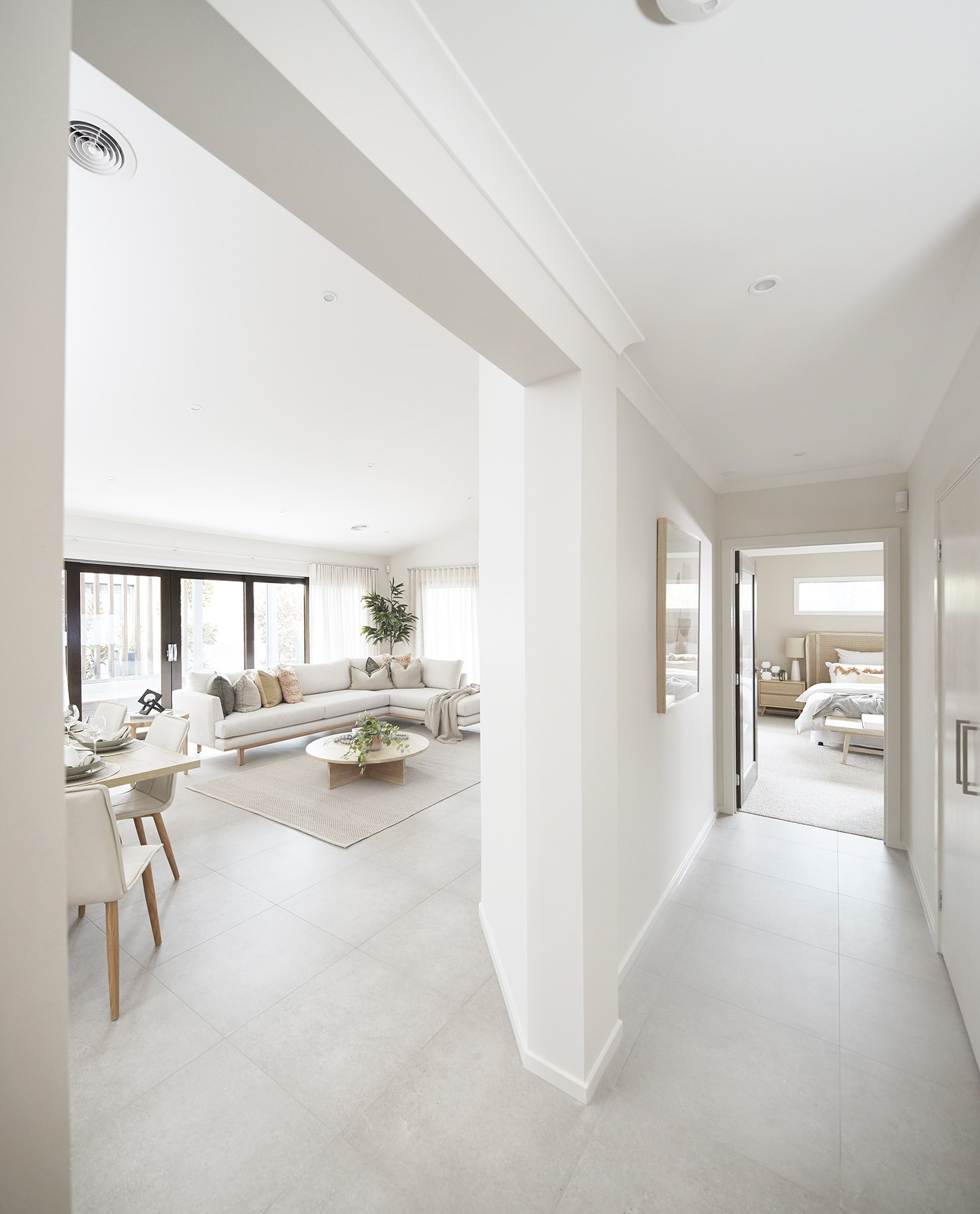 metricon energy efficient home designs open plan living and dining room in zero carbon home