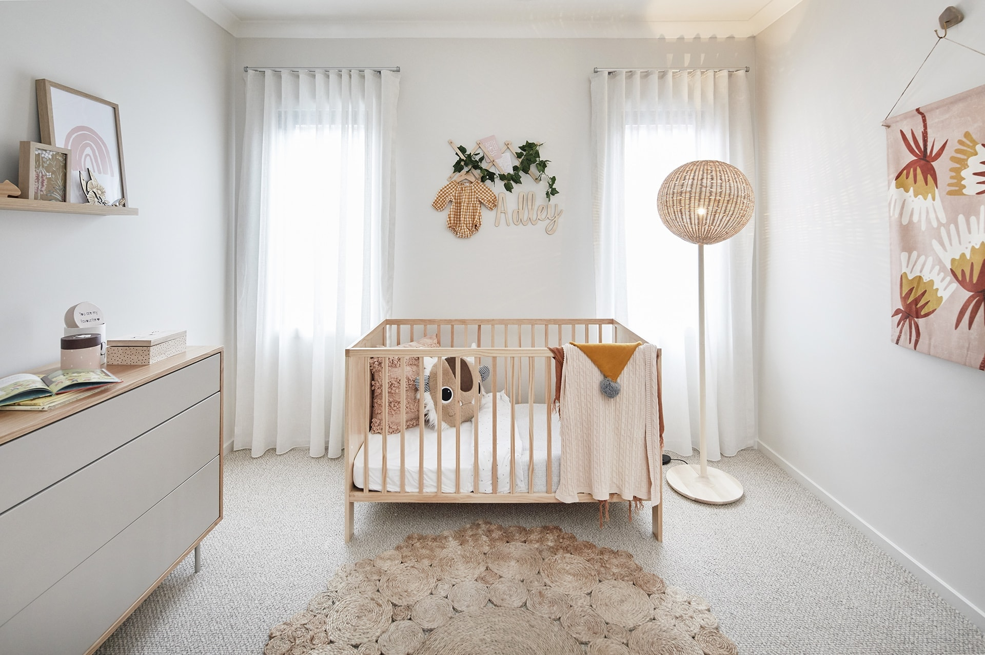 neutral coloured baby nursery in energy efficient home by metricon