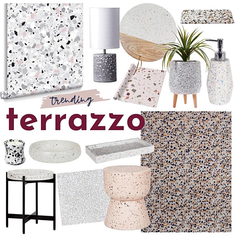 terrazzo decor mood board tlc interiors terrazzo bathroom tiles