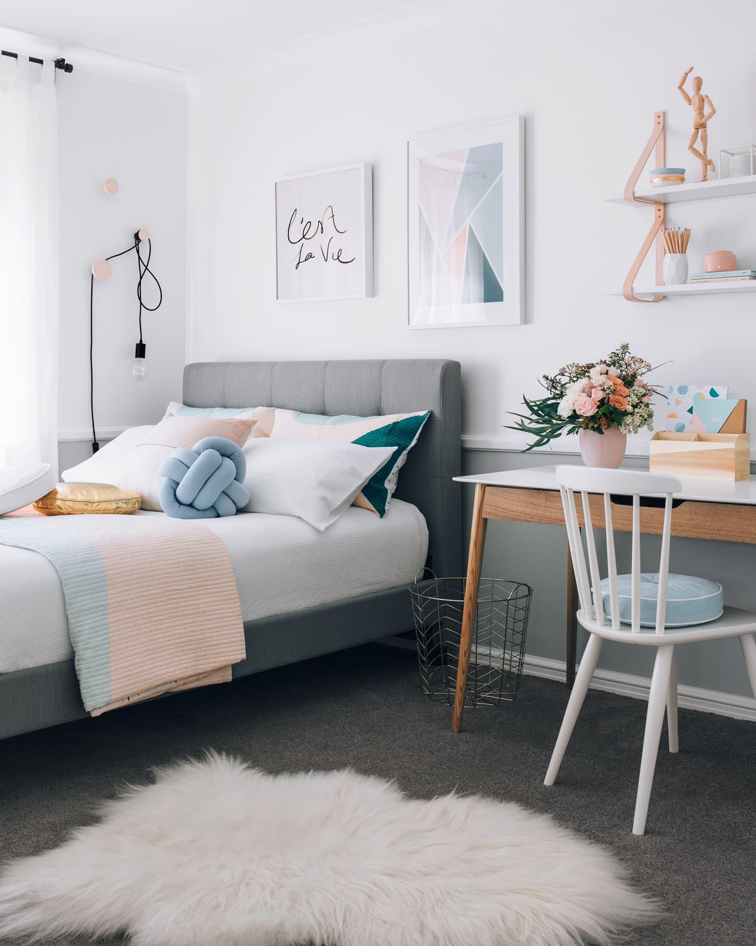 fantastic furniture modena queen bed frame in grey teenage girls bedroom
