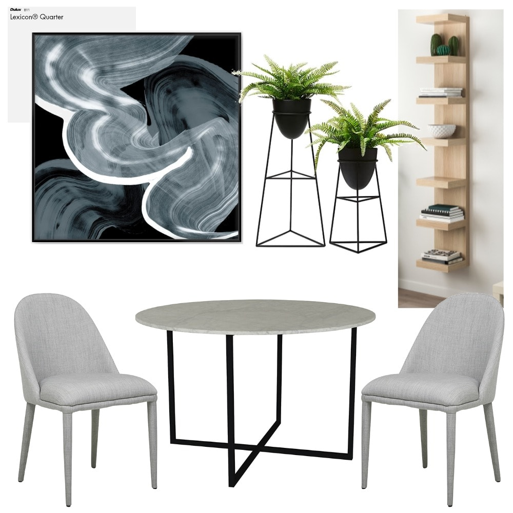 rental apartment interior design docklands round marble dining table from globewest