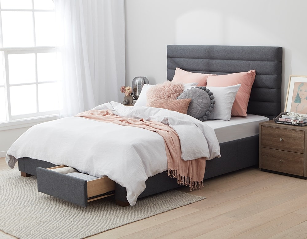 forty winks jackson bed with storage underneath drawers