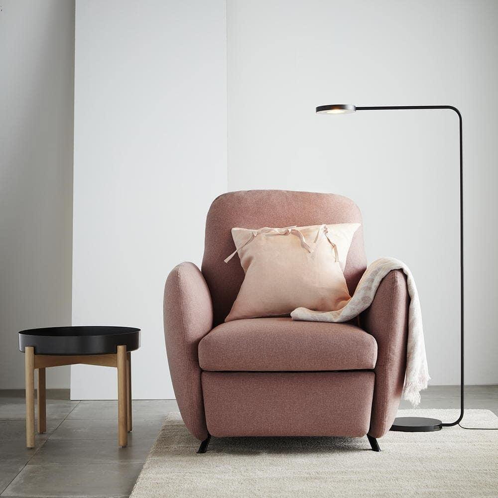 ikea ekolsund recliner chair in light pink fabric ikea australia
