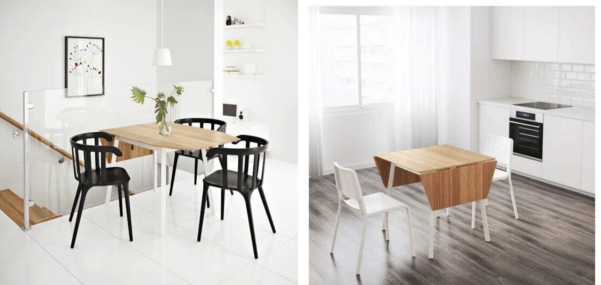 ikea ps 2012 fold down table for small dining room