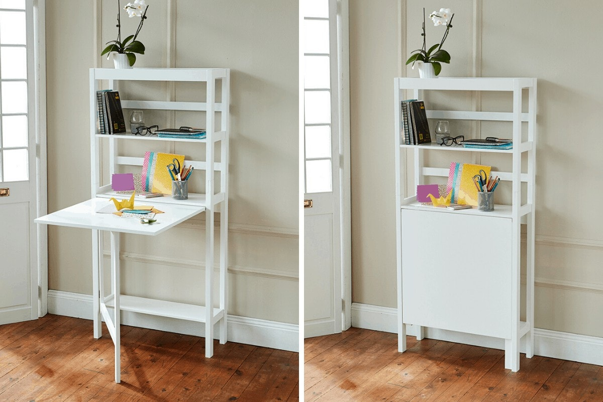 innovations shelf with fold down table for small dining room