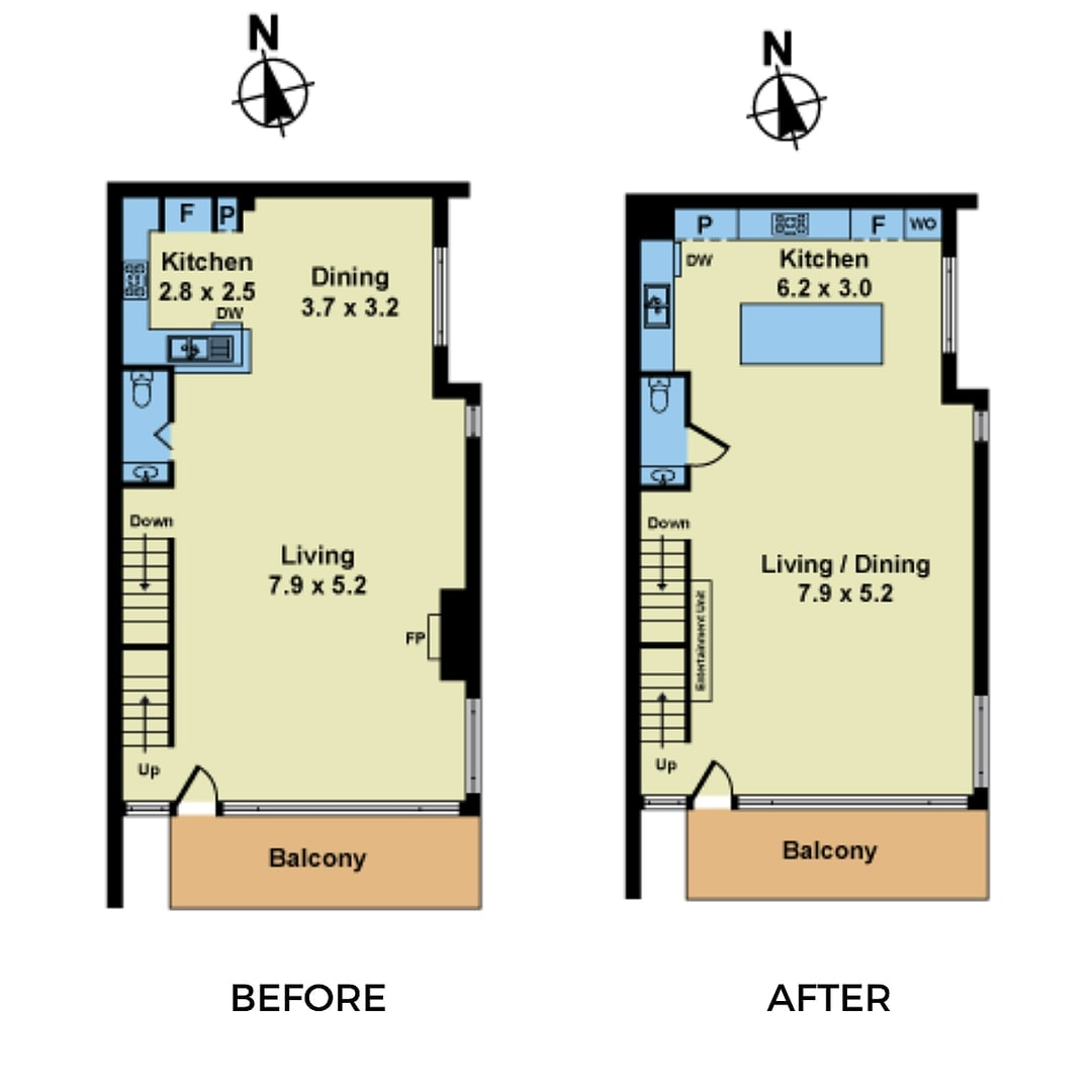 kitchen renovation williamstown floor plan change