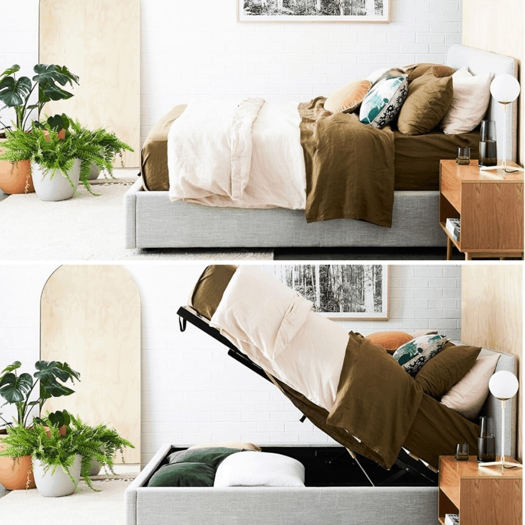 life interiors dane bed with storage underneath gas lift upholstered bed