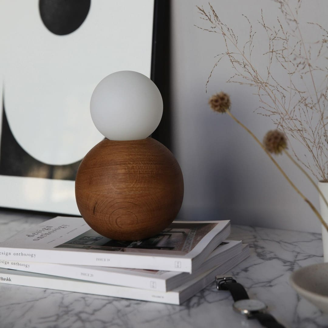 marz design lamp bedside table styling with watch