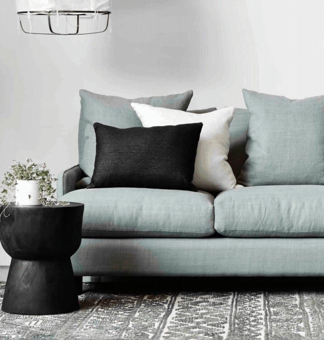 molmic rydell sofa and mark tuckey black stool small living room decorating