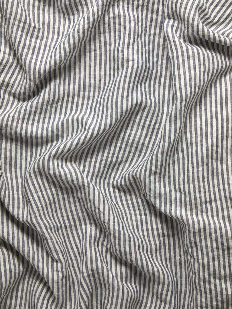 blue and white stripe french linen quilt cover set
