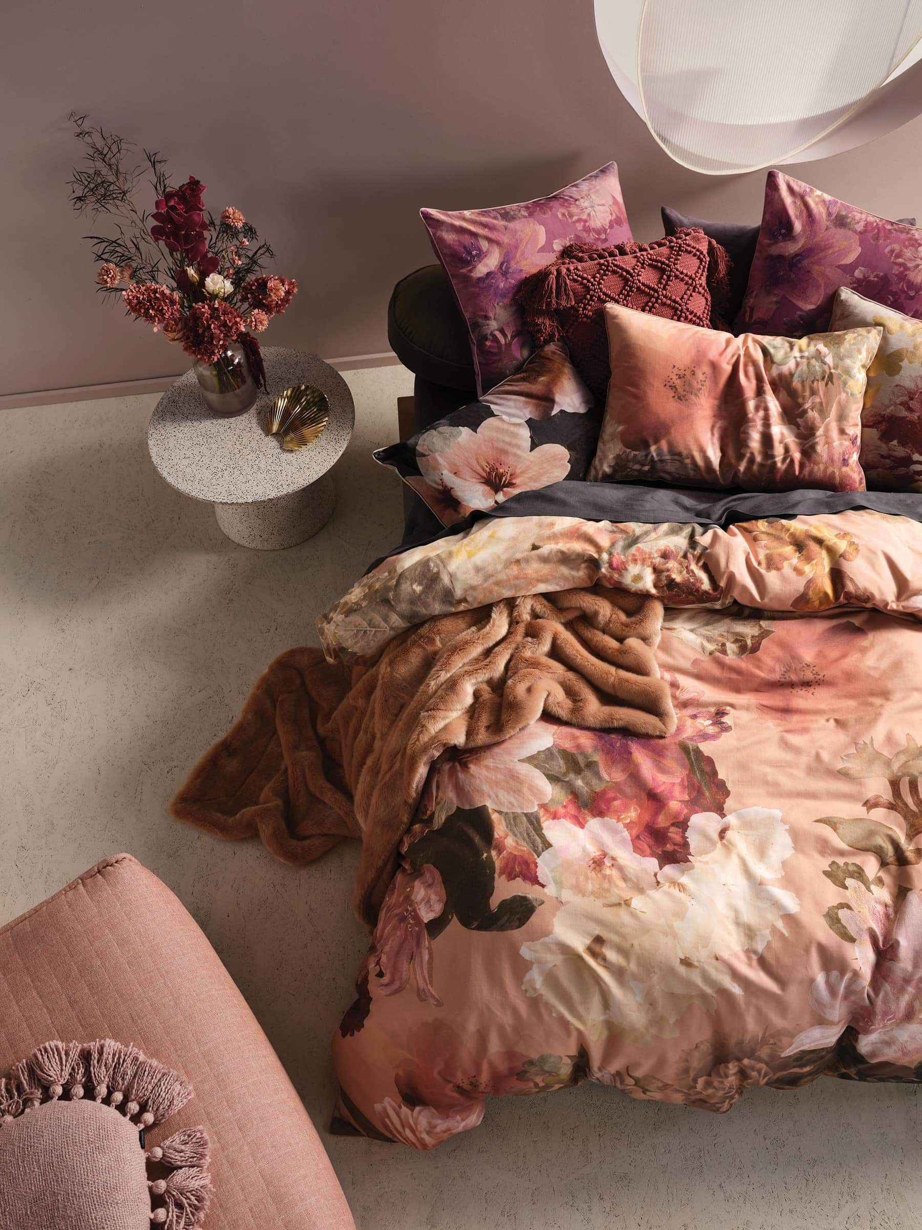 floraine quilt cover set linen house pink bedroom with floral bedding