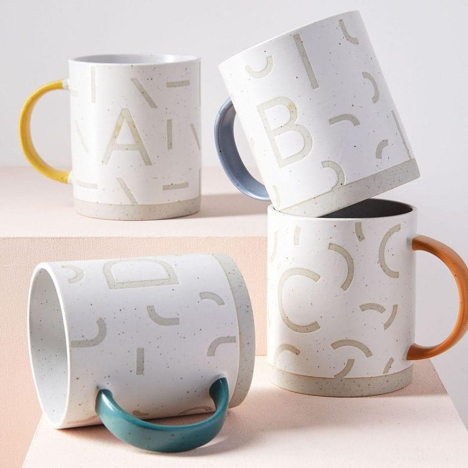 west elm monogram mugs coffee mugs for autumn