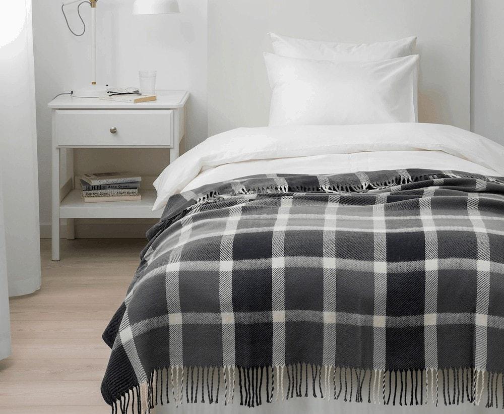 affordable throw blankets ikea kaveldun black and white blanket with tassels