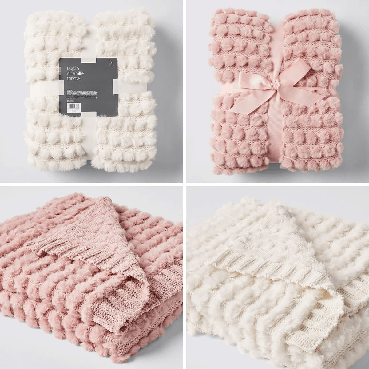 affordable throw blankets target chenille blanket in pink and white