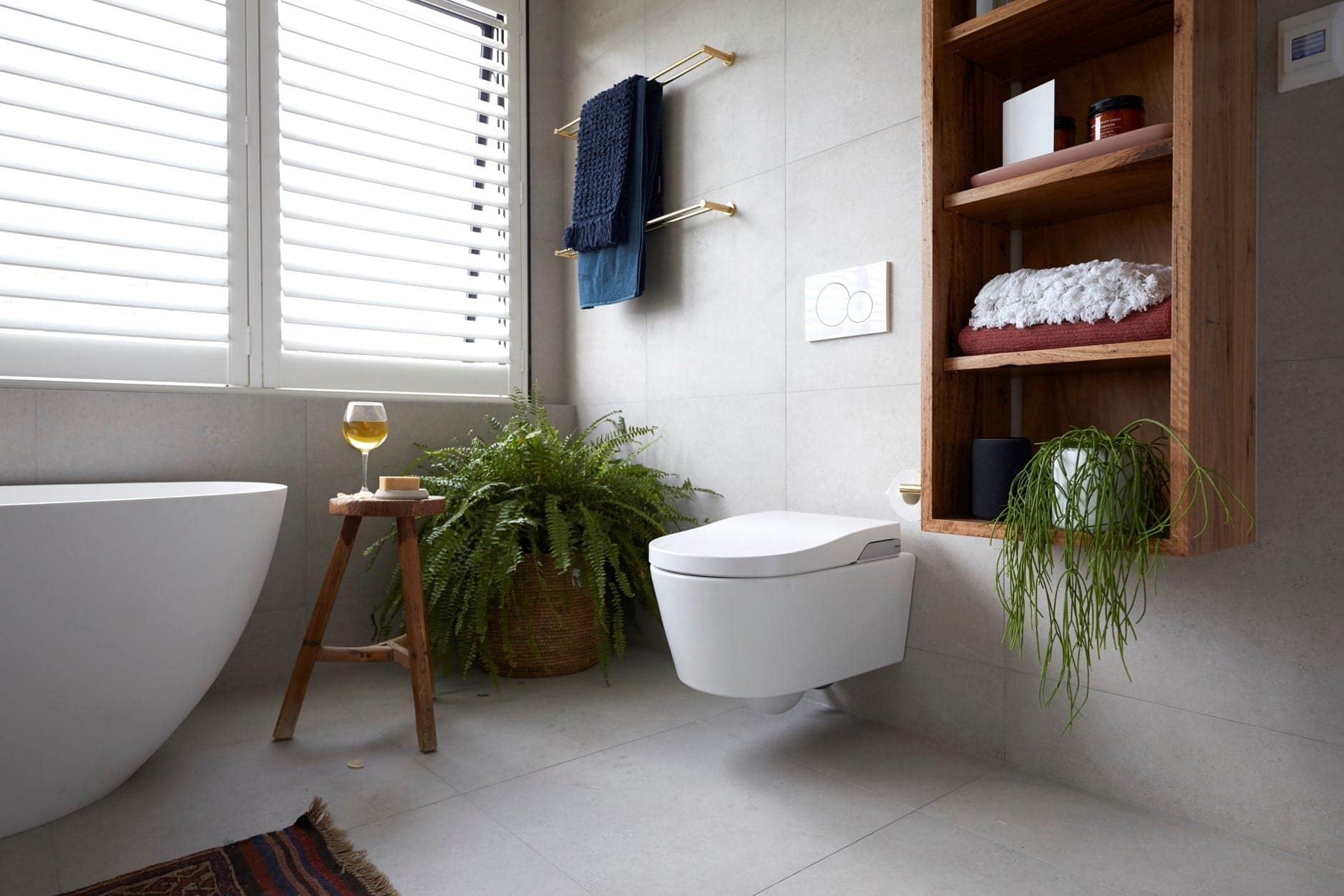 floating toilet with hidden cistern furture proofing a bathroom