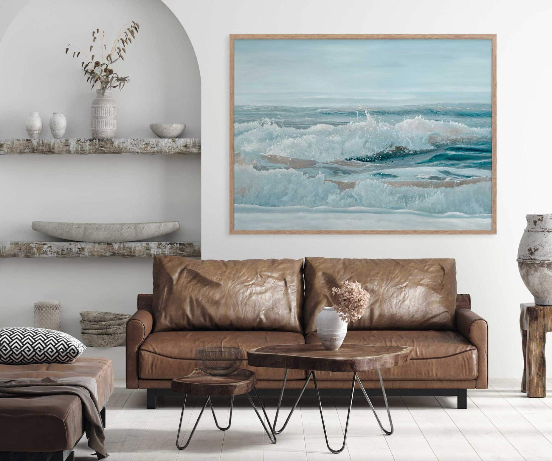 urban road art coastal ocean canvas art