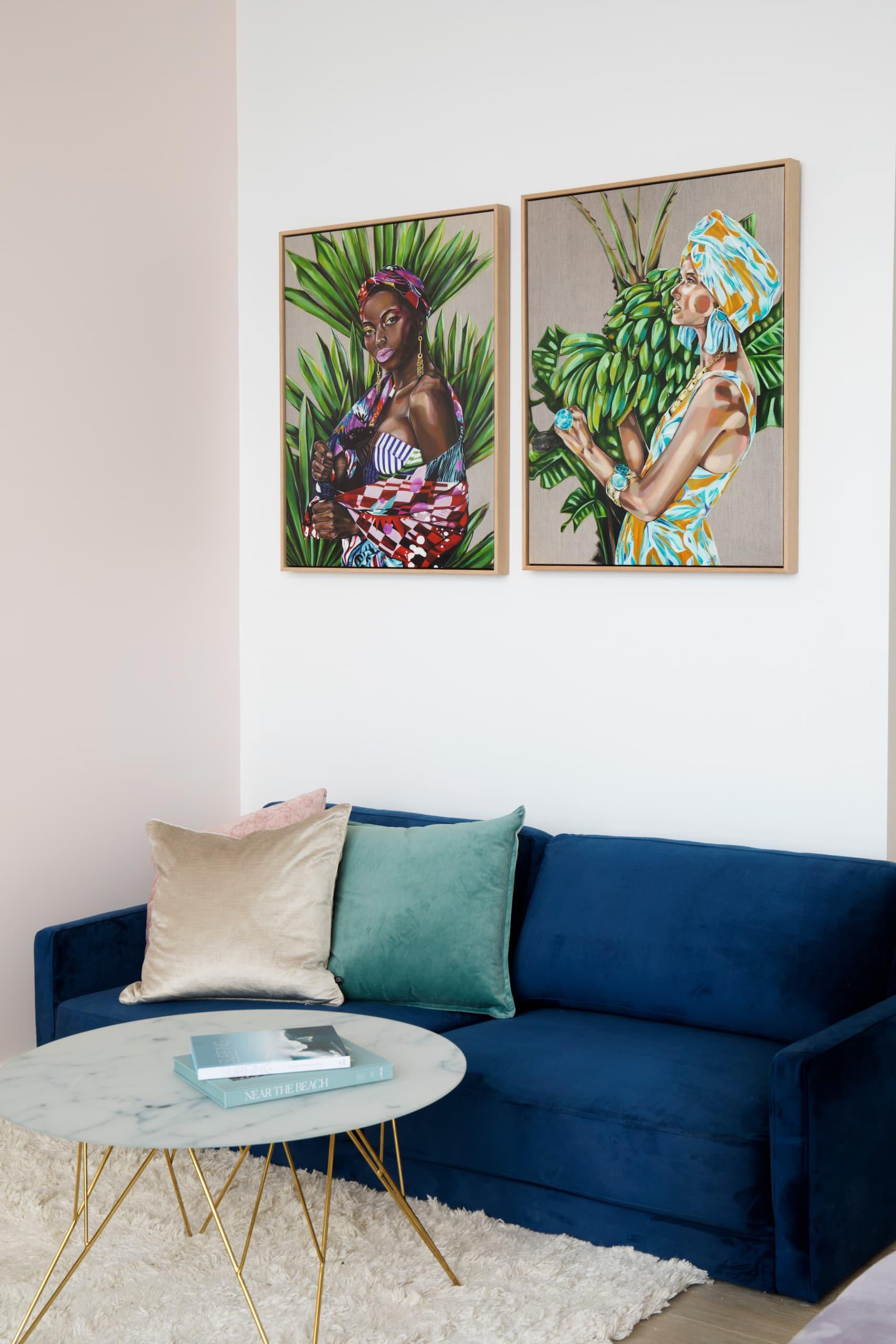 house rules 2020 penthouse reveal navy blue velvet sofa