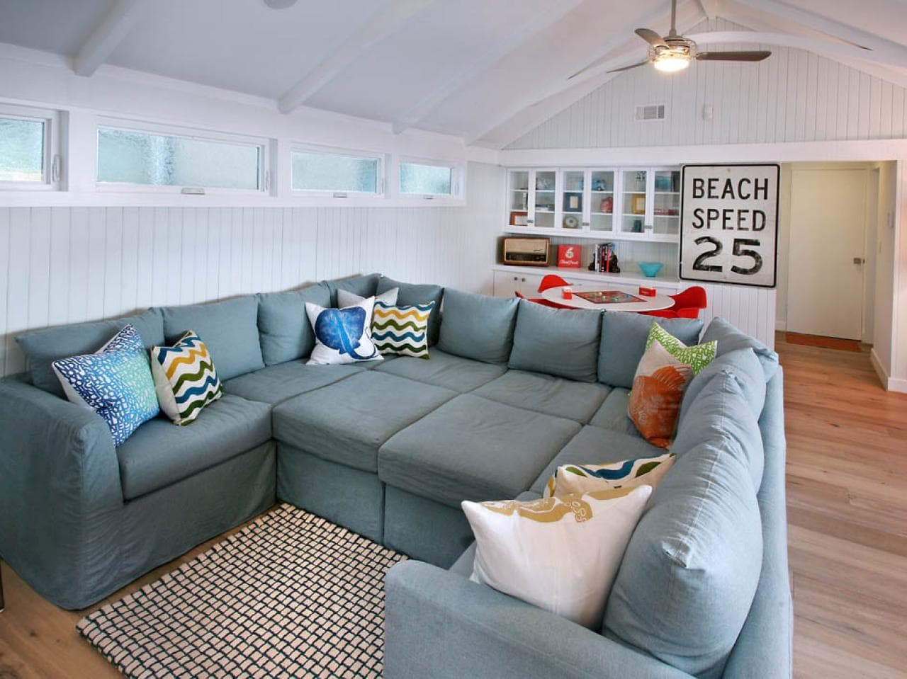 large sectional sofa in living room
