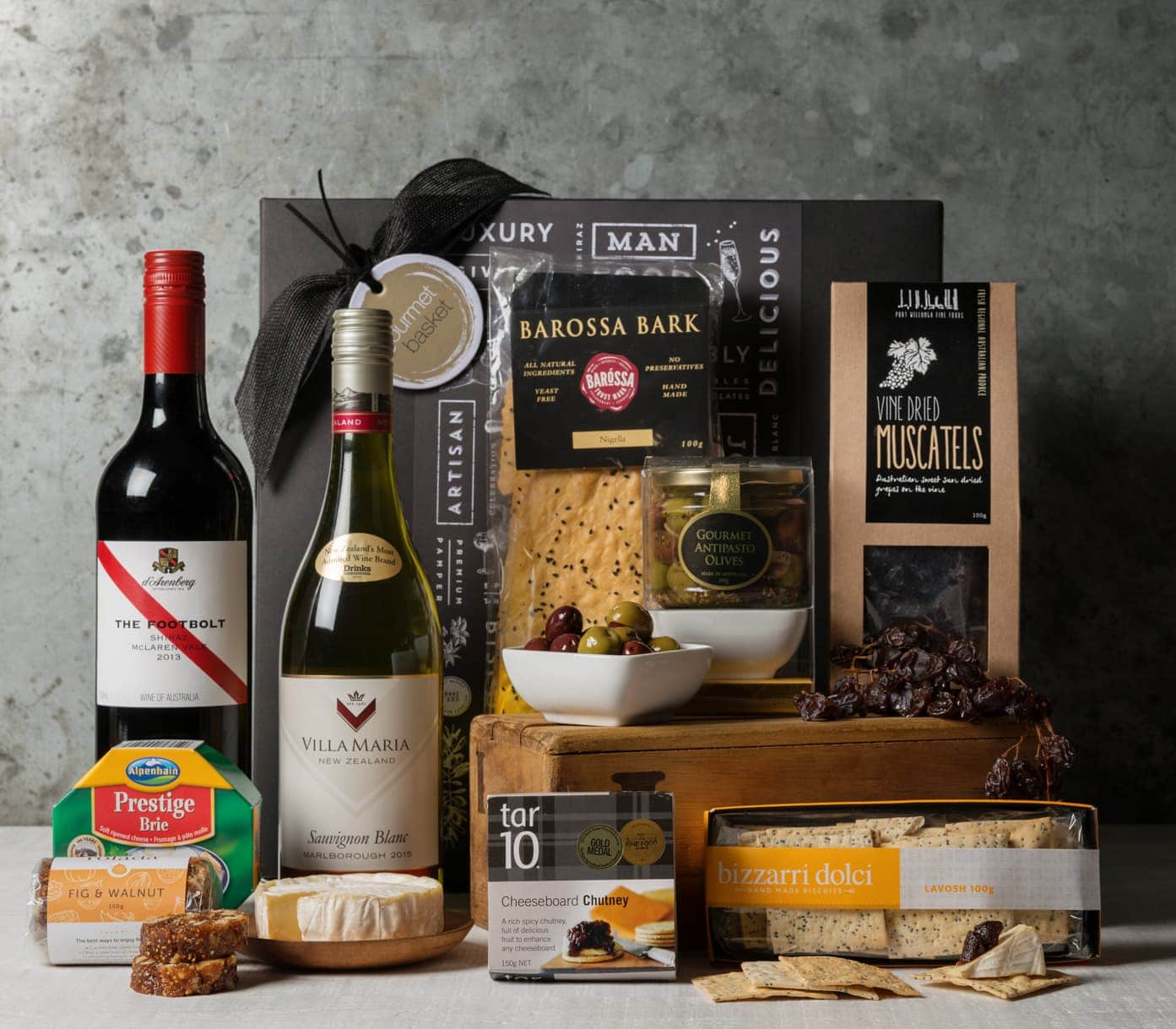 order cheese and wine hamper online from gourmet deliveries
