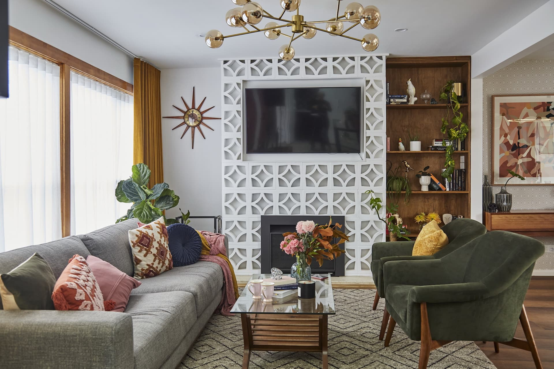 house rules 2020 kimmy and rhi mid century modern living room