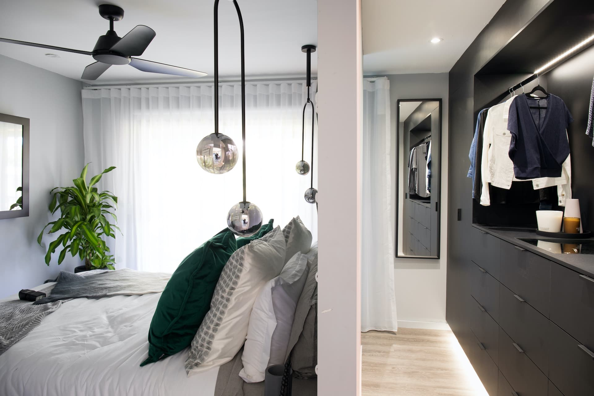house rules 2020 tamara and rhys master bedroom with walk in robe