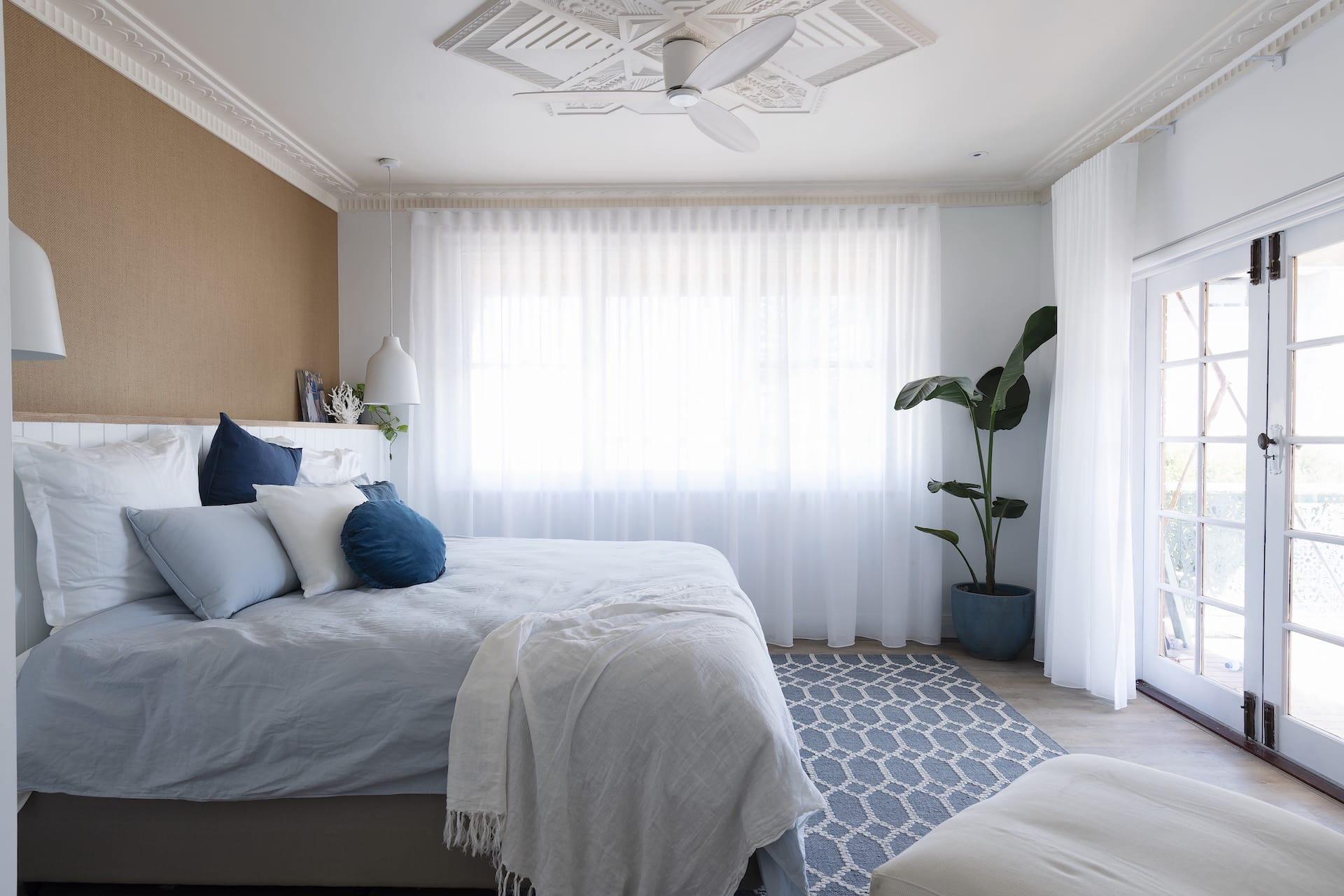 house rules 2020 tanya and dave reveal hamptons coastal master bedroom with sheers