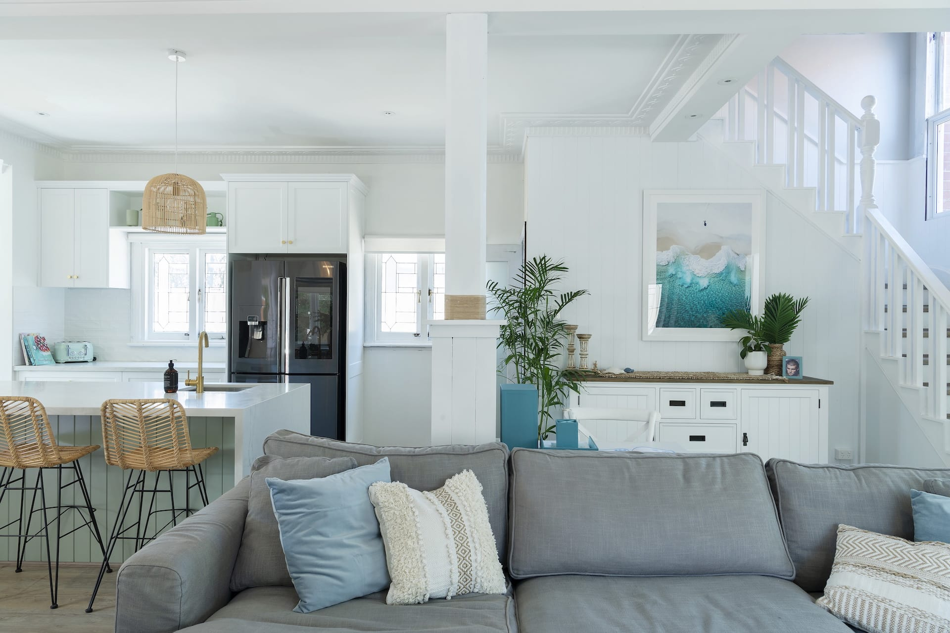 house rules 2020 tanya and dave reveal hamptons open plan kitchen and dining room