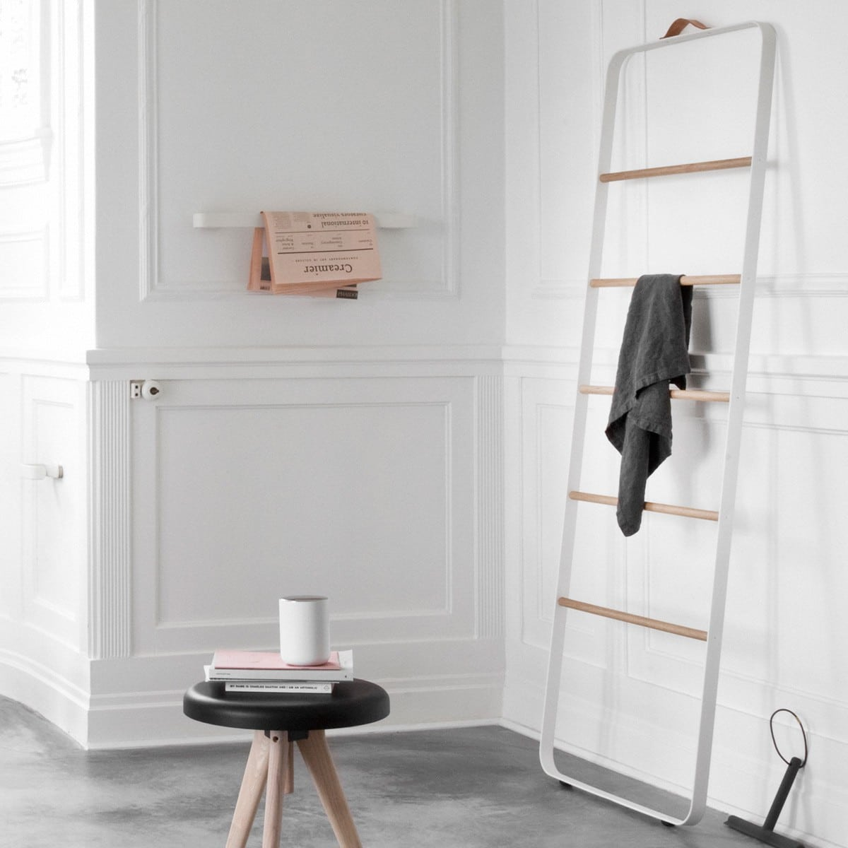 bathroom towel styling candana norm towel ladder