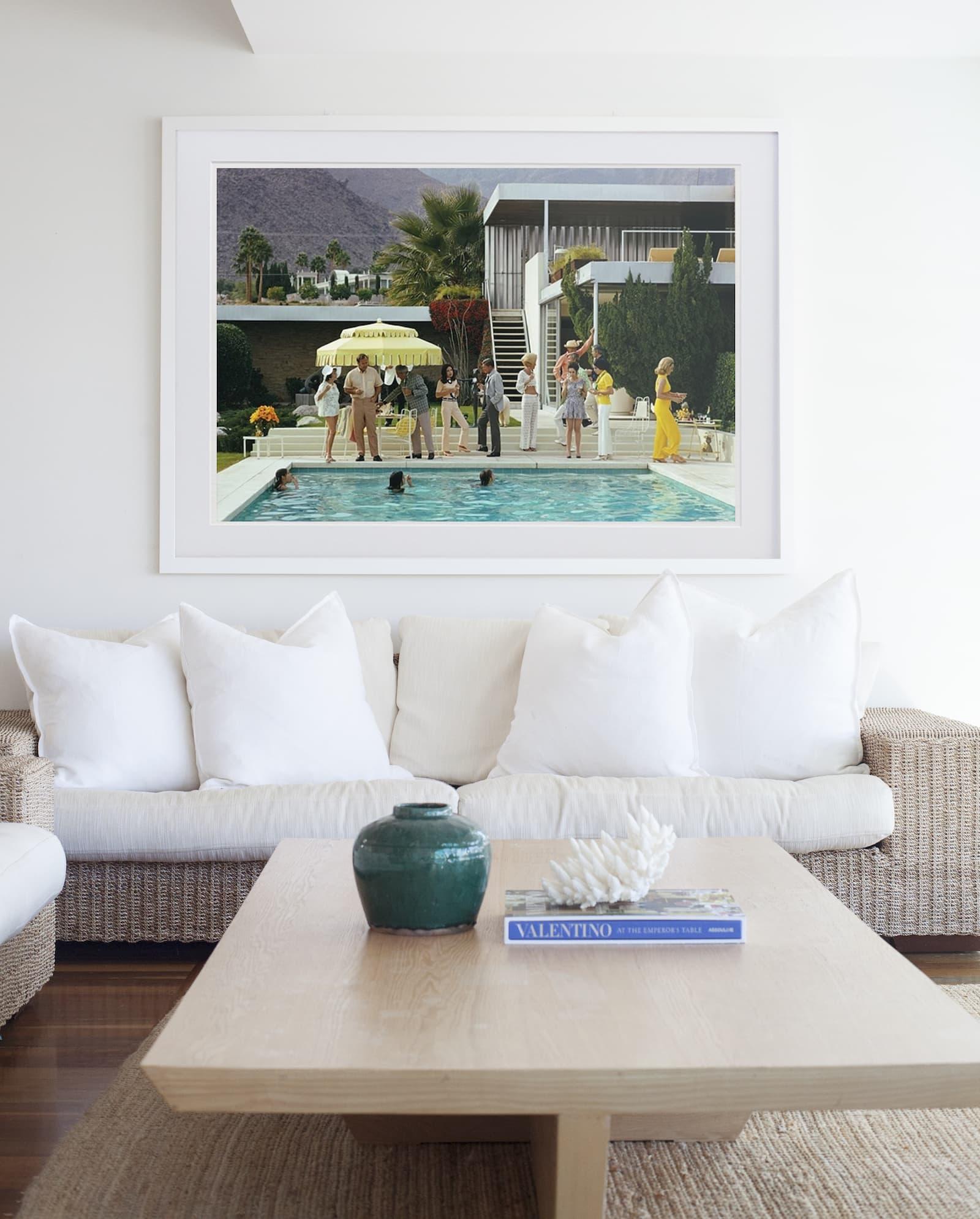slim aaron artwork australia in coastal living room