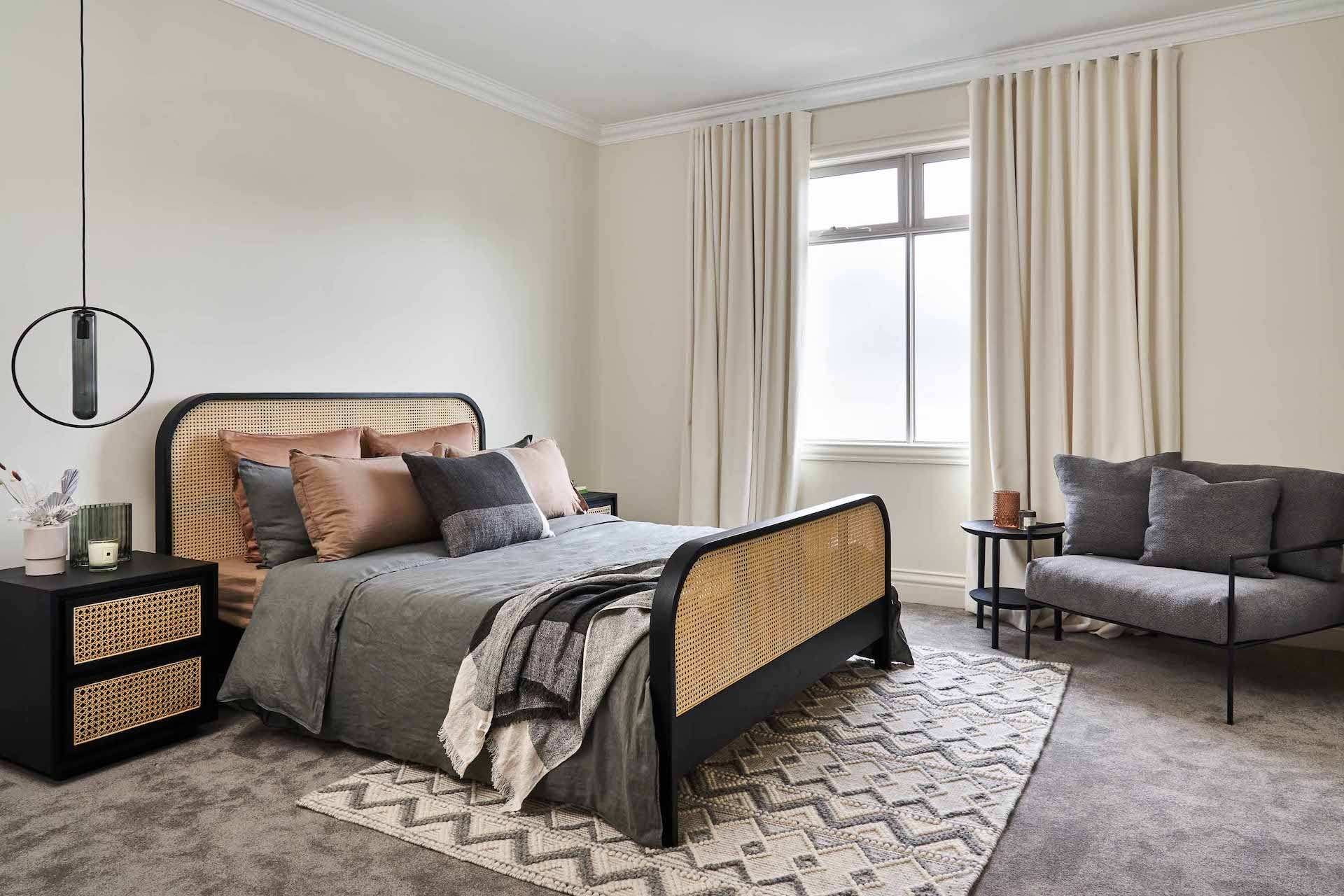 atelier 2 can king bed from trit house in neutral bedroom