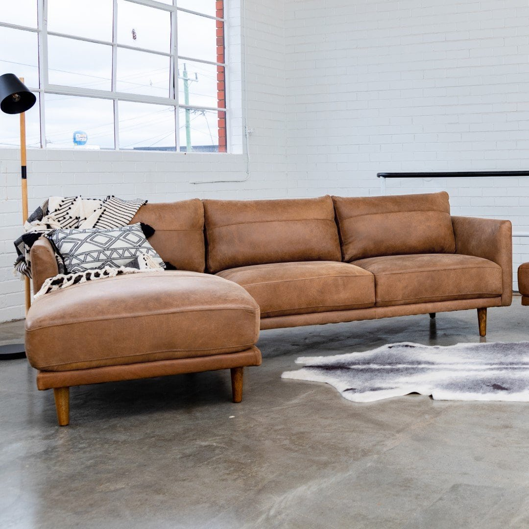ruby brown leather sofa from sofa secret
