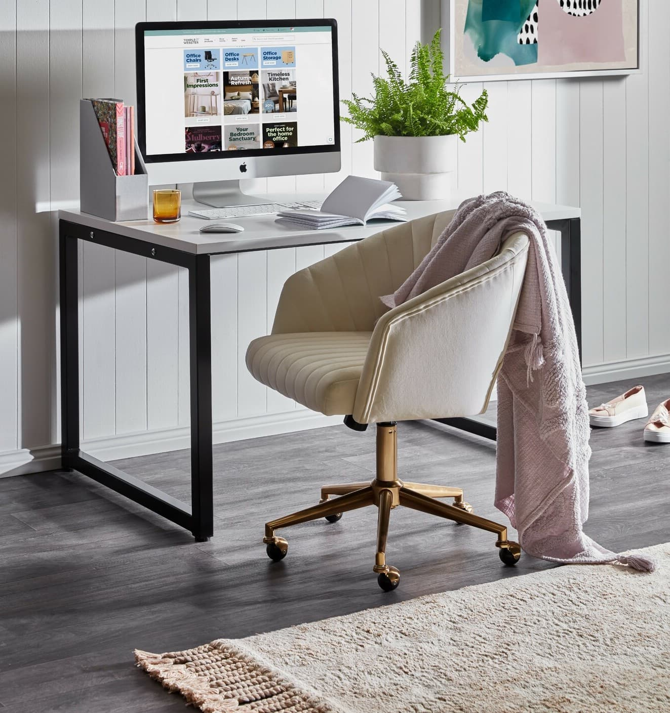 9 Best Upholstered Office Chairs on Wheels - TLC Interiors