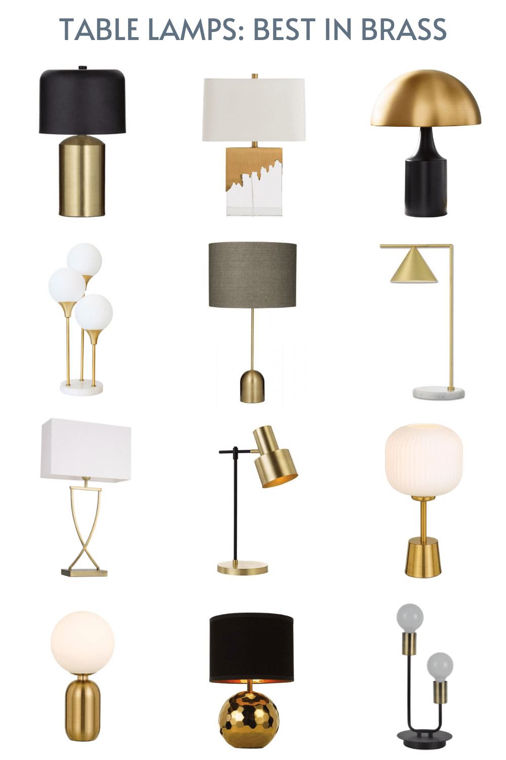 table lamps with brass base