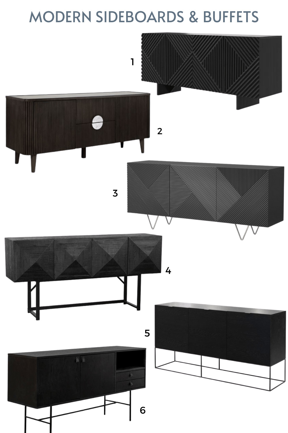 black modern sideboards and buffets online