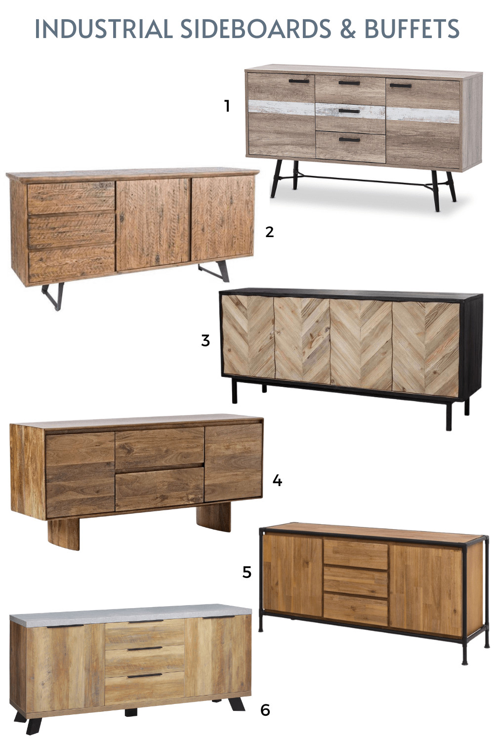 industrial sideboards and buffets online