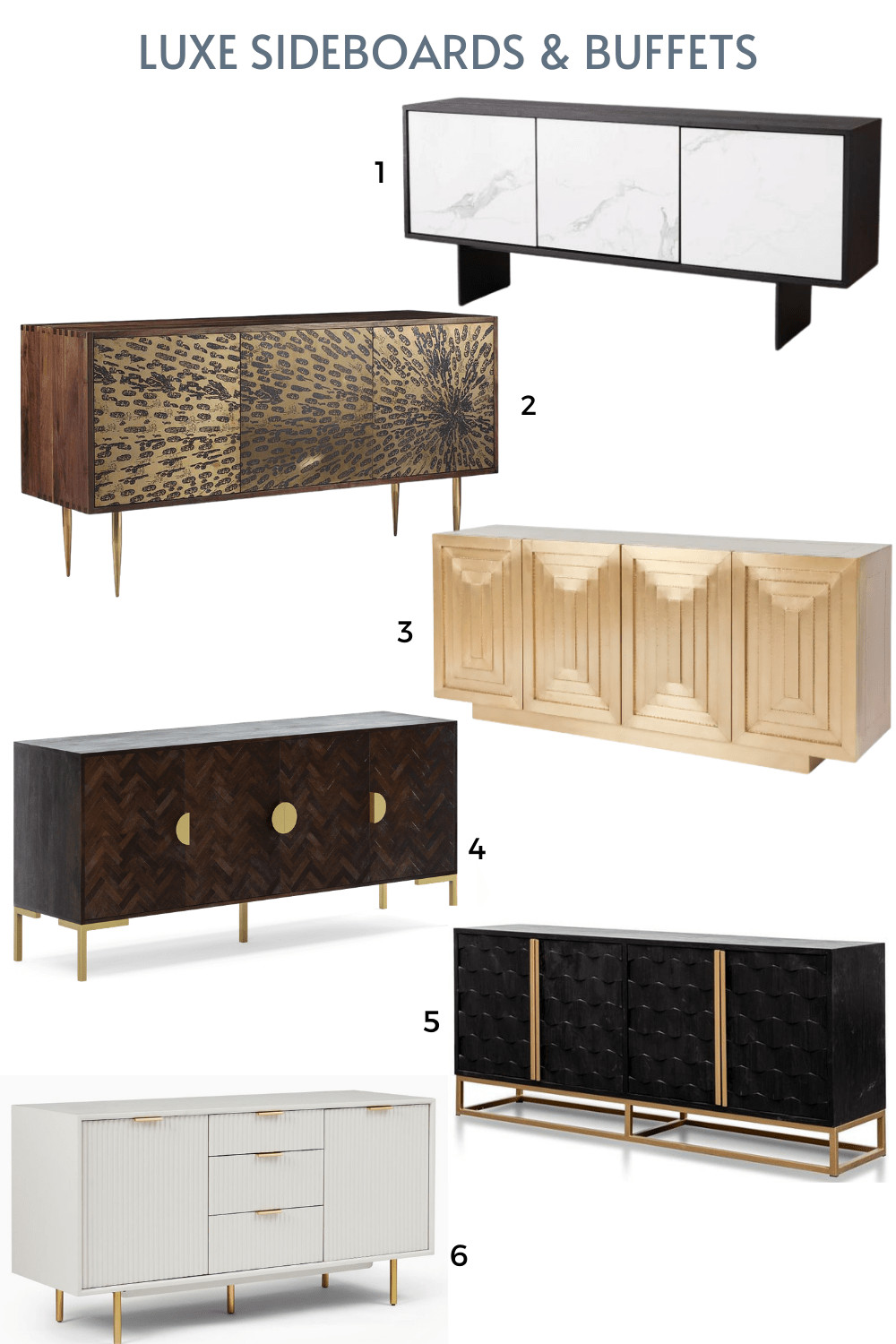 luxe sideboards and buffets online