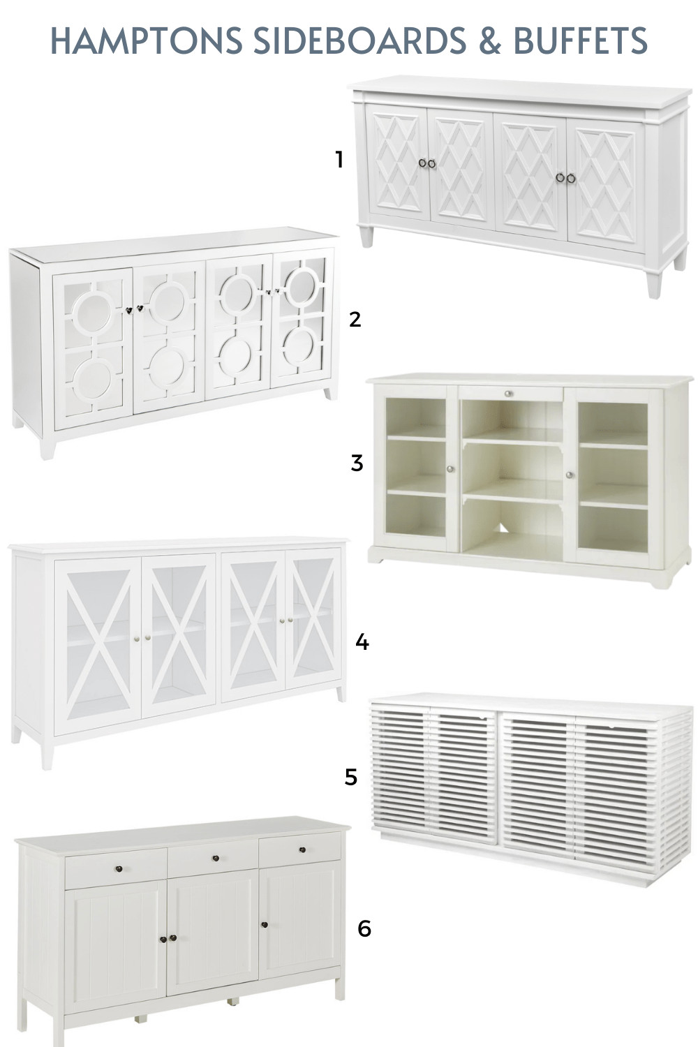 white hamptons sideboards buffets online