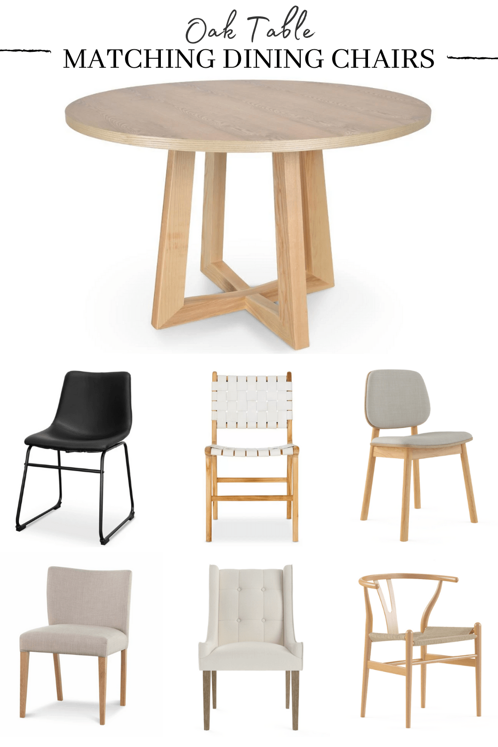 dining chairs for a light timber table