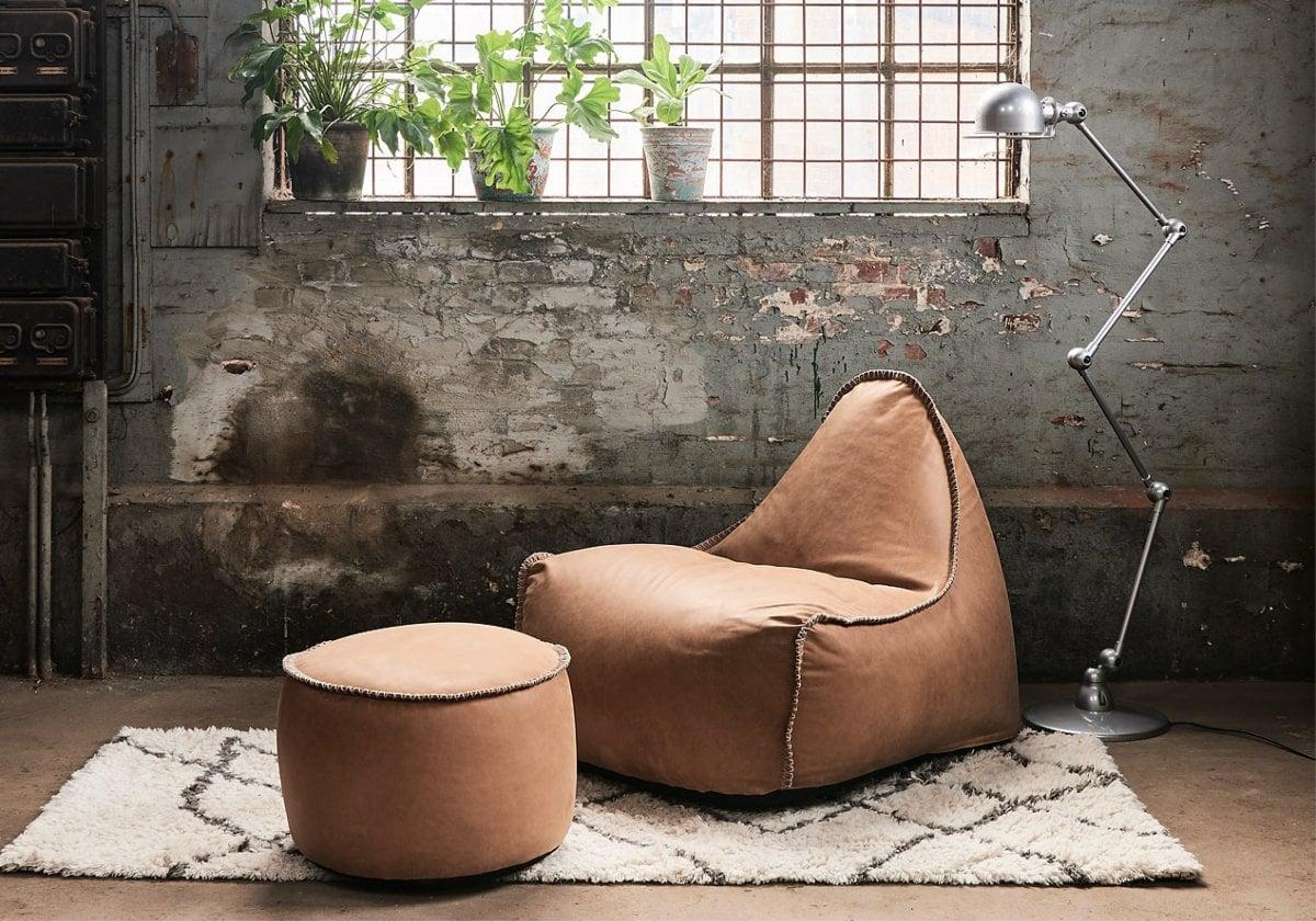 dunes chair leather beanbag brands designer beanbag and ottoman sackit